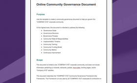 Create Your Own Community Governance Document