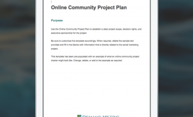 Online Community Project Plan Template