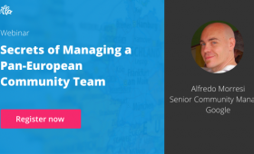 Secrets of managing a pan-european community team